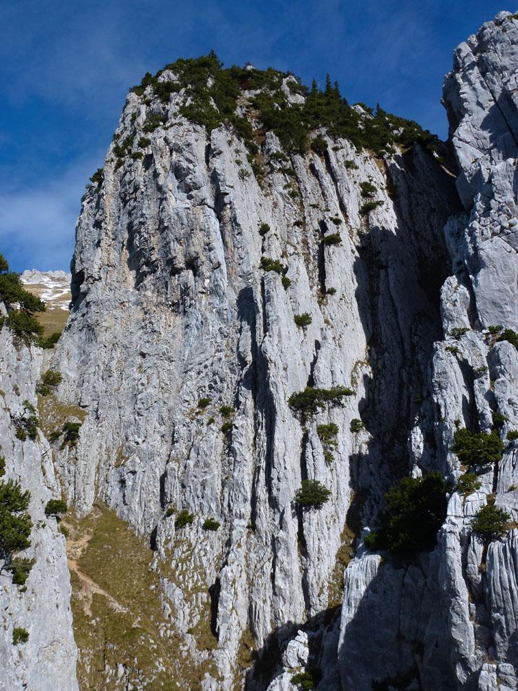 Steile Wand Wildhuser Schafberg